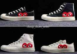 HigH tops soccer boots online shopping - New Chuck Shoes s Classic Canvas Casual Play Jointly Big Eyes High Top Dot Heart CDG Women Mens Fashion Designer Sneakers Chaussures