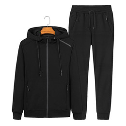 men jogging suits Australia - 2019 Tracksuits Men Sport Suits Sweatshirt Sporting Gym Spring Jacket Fitness Clothes Jogging Pants Casual Track Suit Sportswear