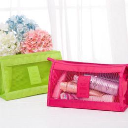 $enCountryForm.capitalKeyWord NZ - 4Colour Transparent Mesh Make Up Bag Women PVC Cosmetic Case Travel Zipper Makeup Beauty Wash Organizer Toiletry Storage Kit Box