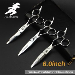 "$enCountryForm.capitalKeyWord Australia - 6.0""Sale Silver Japanese Hair Scissors Japan 440C Cheap Hairdressing Scissors Thinning Shears Hairdresser Shaver Haircut821-2"