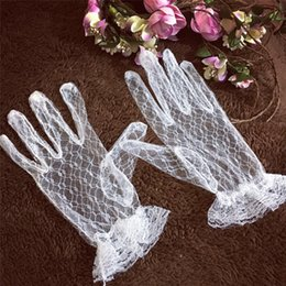 cheap sheer gloves Australia - 2020 Super Cheap Full Finger Wrist Length Sheer Tulle Bridal Gloves New Arrival Cheap in Stock Lace Wedding Gloves Wedding Accessory