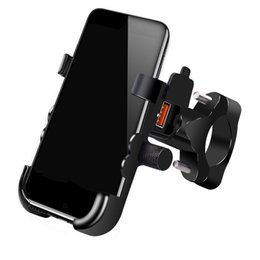 Discount cell phone holder charger stand - motorcycle phone holder handlebar stand cell mount with usb charger mobile phone stand fast charging bracket cell mount