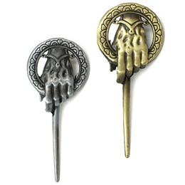 China Game of Thrones Song of Ice and Fire Brooch Hand of the King Lapel Inspired Authentic Prop Pin Badge Brooches Movie Jewelry cheap prop pin suppliers