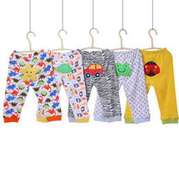 Children Winter Pants Canada - Autumn Winter Baby Boys Pants Animal Floral Polkadot Printing Lovely Girls Pants 100% Cotton Children Underwear Leggings Newborn Pants