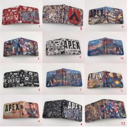 $enCountryForm.capitalKeyWord Australia - Apex Legends Cosplay Wallet 25styles 3D Print Card Holder Coin bag Pocket teenager Short Purse Cartoon Toys bags Kids Gift