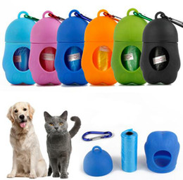 garbage bag clothes Australia - Dog Plastic Bags Pet Dispenser Garbage Case Waste disposable bags Waste Poop Bags for pets storage box YYSY83