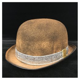 b25786d66310af Women Gold Steampunk Bowler Hat Retro Lolita Glasses Topper Top Hats Shower  Fedora Cosplay Magician Billycock Groom Hat
