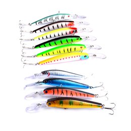 China 10Pcs set 14.5cm 15g 12.5cm 13.6g Fishing Lure Minnow Hard Bait with 6 # hook Fishing Tackle Lure 3D Eyes Crankbait cheap 15g minnow lures suppliers
