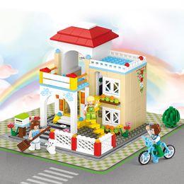 $enCountryForm.capitalKeyWord Australia - Dollhouse Small Room Box Home Garden DIY Doll House Miniature Mini Model Building Block Brick Toy for Children Girl
