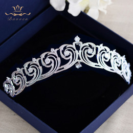 $enCountryForm.capitalKeyWord Australia - Sparkling Full Zircon Bride Tiaras Crowns Wedding Plated Crystal Hairbands Hair Accessories Jewelry Birthday Gifts For Girls Y19051302