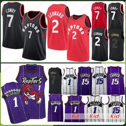 51556f64b96 Toronto 2 Leonard Kawhi Jersey Raptors 7 Lowry Kyle 15 Carter Vince Tracy  McGrady 1 Anfernee Penny Hardaway Retro Men-Kid Stitched Jerseys