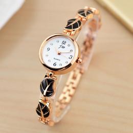 $enCountryForm.capitalKeyWord Australia - Fashion women ladies female alloy metal leaf diamond simple bracelet watches 2019 trend dress leisure quartz wrist gift watches