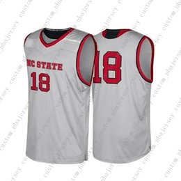 c0ec10aeecc Cheap Custom NC State Wolfpack NCAA #18 Grey Basketball Jersey Personality  stitching custom any name number XS-5XL