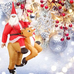 Christmas Ornament Costumes Australia - Inflatable Toy Christmas Bar Party Costumes Riding Elk Inflatable Performance Costumes Puppet Stage