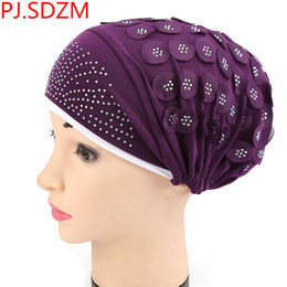 Green Bandana Headband NZ - Women Stretchy Turban Headband Cotton Headscarf Hair  Bands Hat Head Wrap 1d4d4a554efd