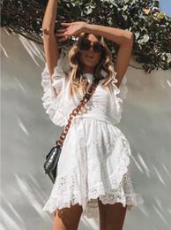 $enCountryForm.capitalKeyWord Australia - 2019 Sexy white lace ruffle short dress women Dresses Summer elegant party bow female dress vestidos Casual daily cute dresses