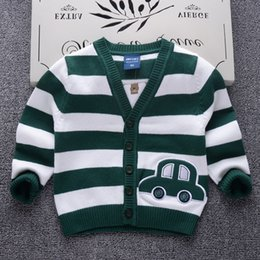 Children Winter Wear NZ - good quality Striped Autumn Winter Cotton Sweater Top Baby Children Clothing Boys Girls Knitted Cardigan Sweater Kids Spring Wear New