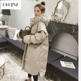 Woman S Parka Australia - Winter New Hooded large fur collar long paragraph over the knee Cotton coat Women Straight Loose bread Jacket Cotton Parka YY166