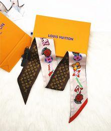Sciarpa di seta della sciarpa delle donne della sciarpa della nuova borsa delle donne della sciarpa della borsa del nuovo di modo della borsa di seta dell'acconciatura di modo in Offerta