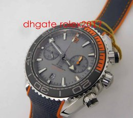 jh factory watches UK - Men's Best Quality JH Factory V3 Edition Planet Ocean Chronograph 3:00 Grey Dial, Grey Subdial WATCH Black Ceramic with Orange Rubbe