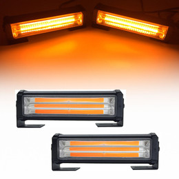 Fireman lamps online shopping - 40W COB Car Truck Front Grille LED Strobe Flash Warning Light Bar Modes Change Styling Fireman Emergency Work Fog Lamp