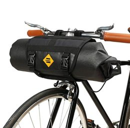 Wholesale 1 Set B SOUL Bike Front Tube Bag Waterproof Cycling Bicycle Bags Handlebar Basket Pack Cycling Front Frame Pannier Bicycle Accessories
