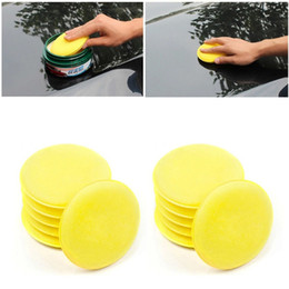 $enCountryForm.capitalKeyWord Australia - 12pcs Compressed Sponge Mini Yellow Car Auto Vehicle Glass Washing Cleaning Sponge Block Wax Foam Sponges Applicator Pads
