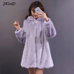 Women's Clothing Hot 2018 Thicken Winter Furry Coat With Fur Hood Faux Mink Fox Fur Vest Jacket Feminino Long Oversized Ladies Waistcoats Wr741 Warm And Windproof