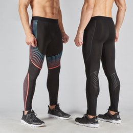 Discount tight exercise pants - Men Pants New Compression Pants Brand Clothing Base Layer Tights Exercise Fitness Long Leggings Trousers Leisure Man