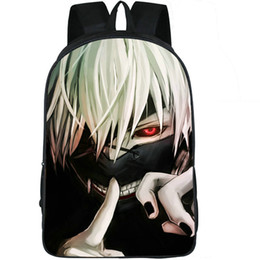 Tokyo ghoul school bag online shopping - Ghoul backpack Tokyo anime daypack Kaneki Ken cartoon schoolbag Leisure rucksack Sport school bag Outdoor day pack
