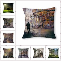 $enCountryForm.capitalKeyWord Australia - Fresh Countryside Scenery Pattern Cotton Flax Pillow Back Cushion Cushion Can Customized