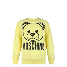 $enCountryForm.capitalKeyWord Australia - Kids Designer Sweatshirt Cute Bear Pattern Girls Pullovers Active Letters Boys Hoodies Brand Kids Clothes Childrens Wholesale 2 Colors