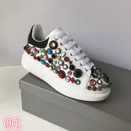 Spring Water Quality Australia - 2019 Deluxe Quality Designer spring new styles personality water drill small white shoe thick bottom round head leisure sneakers #395