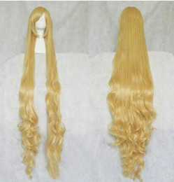 victoria cosplay NZ - FREE SHIPPING + ++>Victoria Fashion Beautiful Blonde Stylish Curly Hair Long Cosplay Wavy Wig 150cm