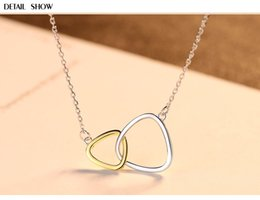 necklaces pendants Australia - HOT S925 sterling silver triangle pendant simple wild female silver jewelry necklace LSF31