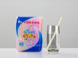 $enCountryForm.capitalKeyWord NZ - 5000 Pieces Straight Plastic Drinking Straws 6*180mm Pointed Tip Slim PP Drink Straw Colored Disposable Party Event Bar Pub Hotel Supplies