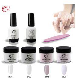 Clear base gel online shopping - 28g Dip Powder Starter Kit Base Top in No Lamp Cure Gel Activator Clear Pink Nail Dip Powder Natural Dry Nail Salon