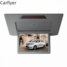 dvd display for car UK - For Alphard 12.1'' HD High Resolution Car Roof Mount Monitor Overhead Car Ceiling Wide Drop Down LCD Display connect dvd