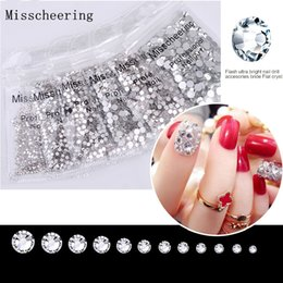 $enCountryForm.capitalKeyWord Australia - 1pack Ss3 Nail Art Rhinestones Crystal Clear Rhinestones For Nails New Stones Loose Glitter Diy Design Manicure