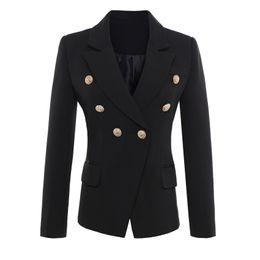 $enCountryForm.capitalKeyWord UK - High Quality New Fashion 2019 Runway Style Women's Gold Buttons Double Breasted Blazer Outerwear Plus Size S-xxxl J190716