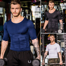 Men Compression Enge T-Shirt Under Skin Gang Fitness TOPS