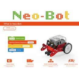 neo toys Australia - DIY Neo Programming Scratch Intelligent Obstacle Avoidance Car Robot Kit Brain-Training Toy For Children Education Toy-Green Red