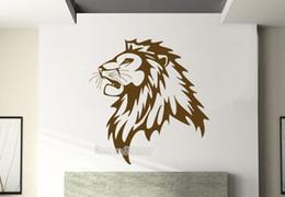 $enCountryForm.capitalKeyWord Australia - Newly Decals Lion Head Great Looking Kid Room Nursery Decal Vinyl Removable Wall Sticker Living Room Sofa Background Decor