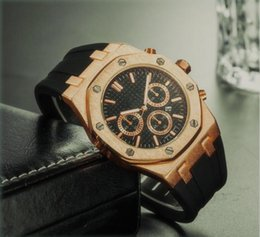 golds auto NZ - High Quality Free Shipping Auto Date Watches Men Famous Male Clock Quartz Golden Wristwatch Black Silicone Strap Rose Gold Relogio Masculino
