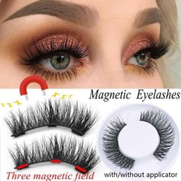 $enCountryForm.capitalKeyWord Australia - 4 Pcs Full Coverage Three Magnetic False Eyelashes Applicator Natural Long Wispies Lashes Handmade