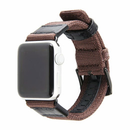 Watches Nylon Australia - Nylon Strap for Apple Watch 38mm & 42mm Series Heat Dissipation Breathable High Quality Genuine Leather Watch Bands Comfortable Casual Style