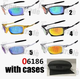 goggle eye fish Canada - With cases Sunglasses Sports Fishing Eyewear Cycling Bike Camping Hiking Sunglasses 6 colors Facotry Price 06186 Las gafas Ciclismo 10PCS