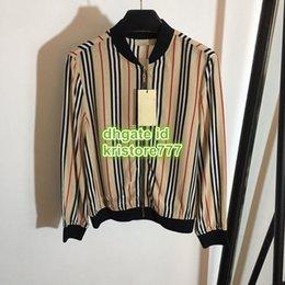 $enCountryForm.capitalKeyWord Australia - 2019 Women's Zipper Striped Jackets Casual The High Quality Fashion Long Sleeve Tops Short Coats Jacket S-M-L