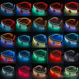 Wholesale EL Wire Light LED Glasses Bright Light Party Glasses Club Bar Performance Glow Party DJ Dance Eyeglasses light up kids toys