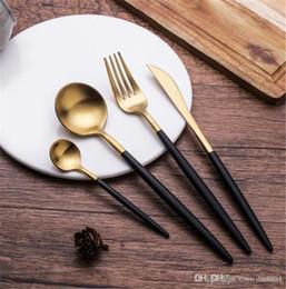 $enCountryForm.capitalKeyWord Australia - LEKOCH 4 pcs Flatware Set Gold flatware 304 Stainless Steel Cutlery Kit Wedding Tableware Restaurant Dinnerware Set Gift
